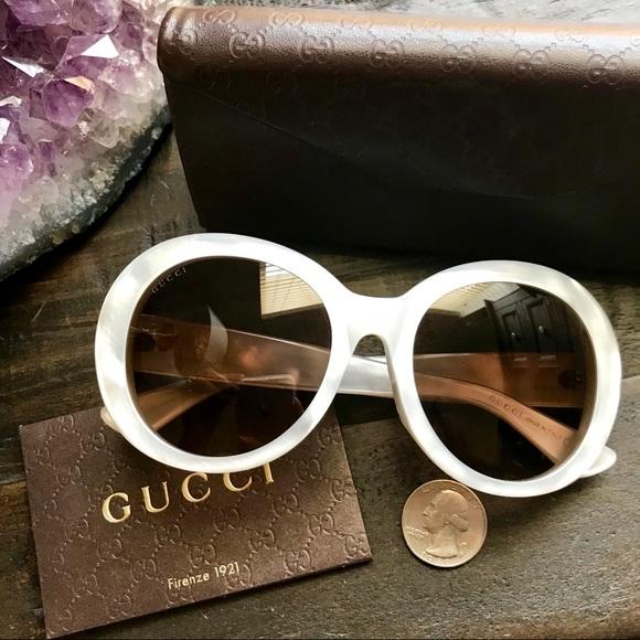 c340541ea92 Gucci Accessories - XL Round Mother of Pearl Gucci Sunglasses